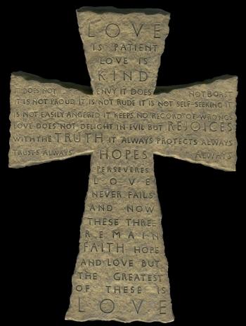 Image Credit: http://fantasystock.deviantart.com/art/1-Corinthians-13-4-Stone-Cross-27348528